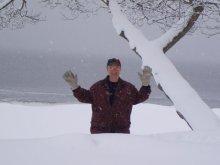 Steven in the deep snow
