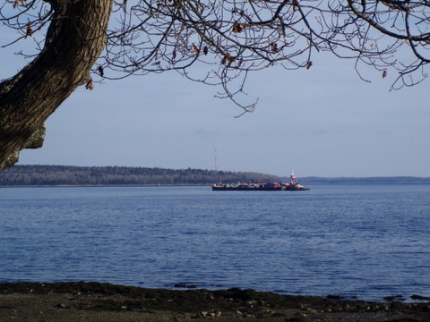 freighter at a distance
