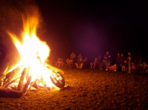 Searsport Shores Beach Bonfire