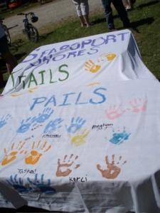 Handprints of the kids