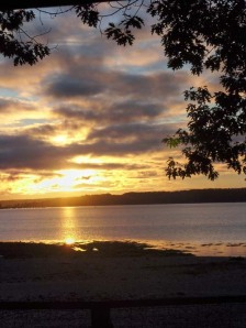 Sunrise from the tent...looking towards Sears Island