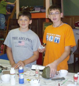 Stone Painting Artists Brian and Robert