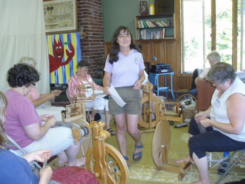 Deb Woolley teaches spinning