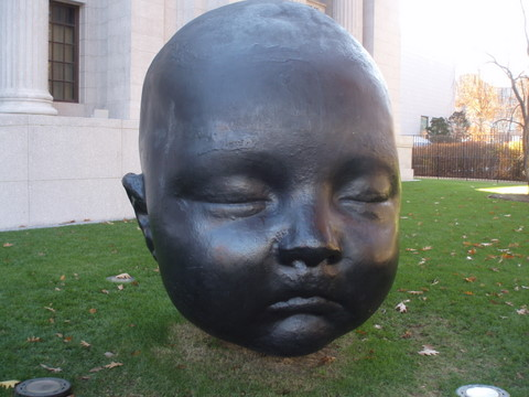 The giant head of the MFA
