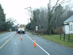 The appearant reason for no power...just before Searsport Village