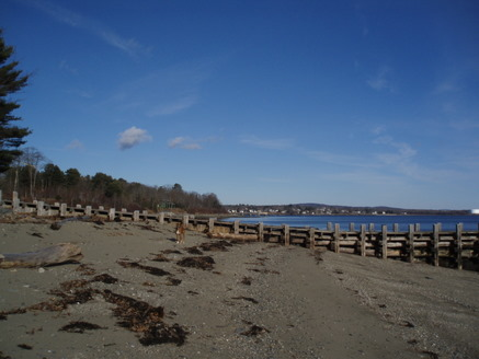Still at the campground, just starting towards Searsport Harbor...see, we have a rare patch of sandy!