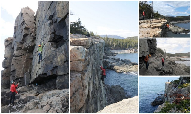 Rock Climbing the Otter Cliffs in Acadia National Park