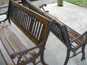 Park Benches to be sanded and urethaned