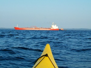 Tanker headed into Mack Point