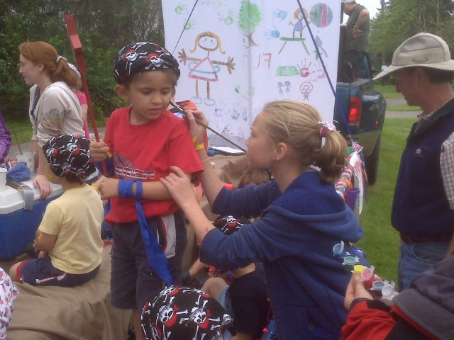 Face Painting before the Parade