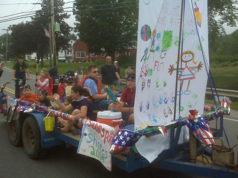 Laughter and smiles...what more do you need on a parade float?