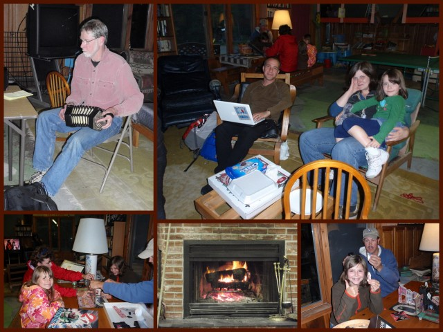 A little rain never slows down the fun while the fire is crackling and there's music to share