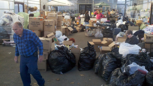 """TBNT gathered supplies for Hurricane Sandy Victims...many of our guests are from that area but all I've talked with say they are fine and back to """"normal"""""""