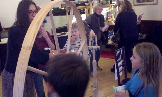 Spreading the Spinning Bug at the Christmas Celebration at Frenchman's Point