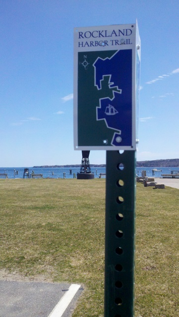 Rockland is a great place to spend an afternoon or the day...head down to the harbor and look for these trail markers...this is a fun walk with the dog too