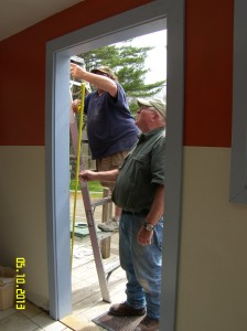 The bathhouse now has a new front door!  Thank you Steve, Steve and Mike