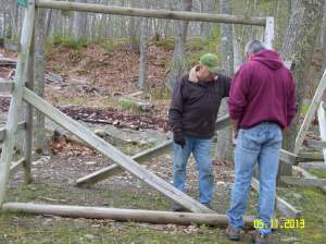 Hank & Rich re-built the kayak stands