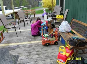 Searsport Girl Scouts made certain that all of the toys were clean and in good working order