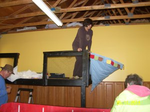 Mary & Linda transformed the Children's Play loft into a pirate ship...it's fantastic