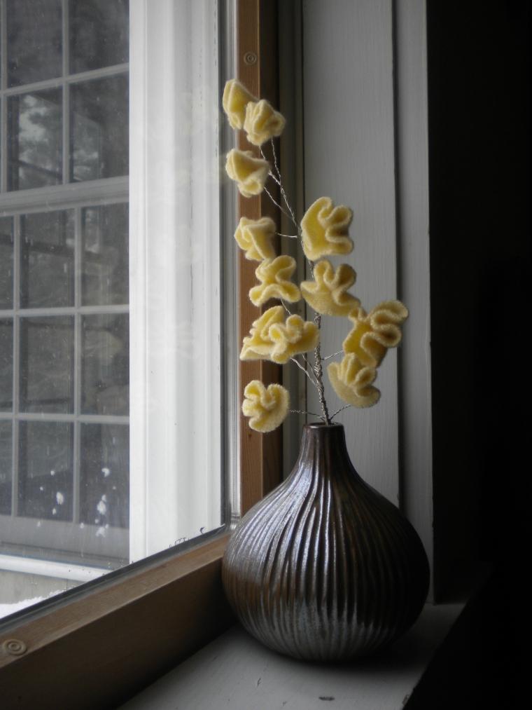 Upcycled Felt Flowers by Ellen Mason