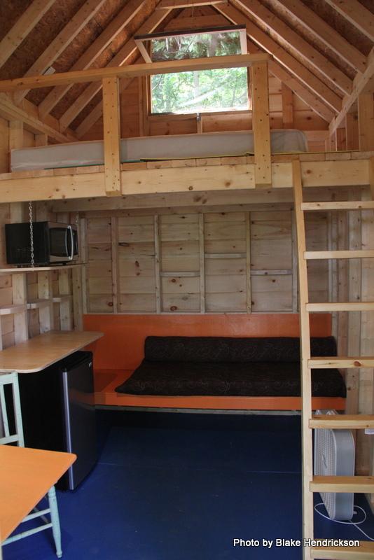 The loft has a full size mattress