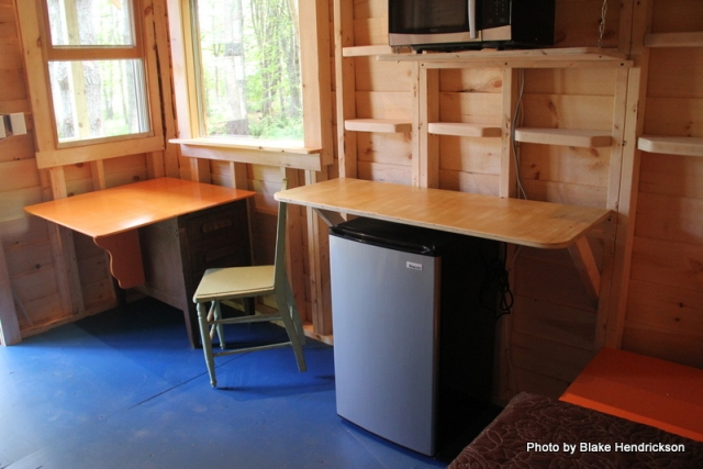 If you were sitting at this desk, would you be writing, painting or sewing?
