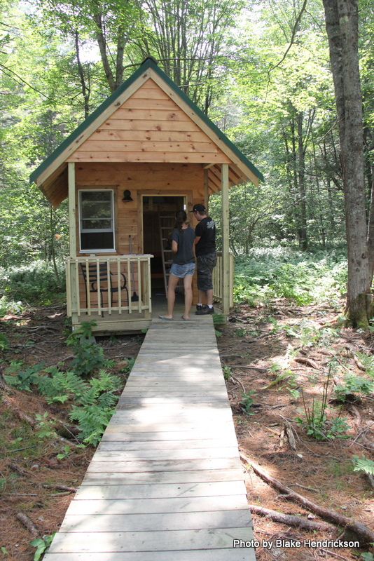 Walk ways to the cabins...
