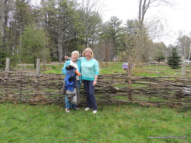 A waddle fence rebuilt...thank you Anita and Cheryl