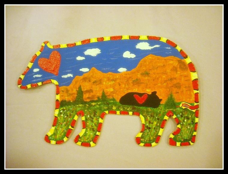 Sedona Bear by Joyce Hayden, acrylic
