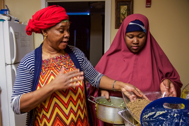 Atiya treated us to a cooking lesson.  Back in Somalia she was a well known cater.