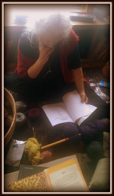 Knitting with a dear friend
