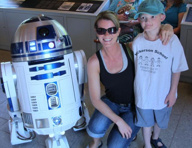 Here we are at Fort Knox in Prospect with R2D2