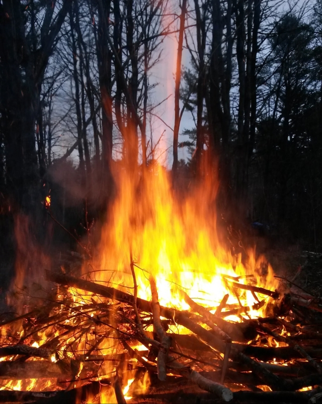 Campground fire at Searsport Shores